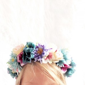 Hawaiian tropical party headband piece