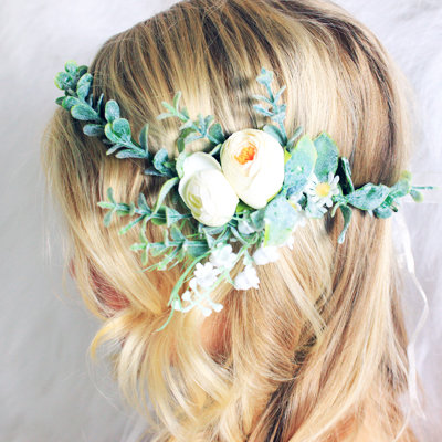 bride pretty lilly and lace crown fake
