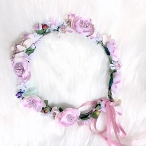 kids silk artificial purple flower crowns