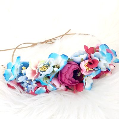 pink and blue hair accessory