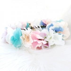 silk handmade rainbow floral hair flowers