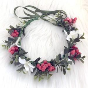 Christmas child flower crown silk
