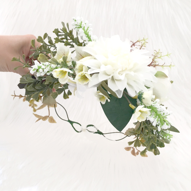 White leafy bohemian floral crown lilly lace leafy off white flower crowns australia mightylinksfo
