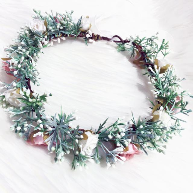 leafy white floral crowns Australia fake
