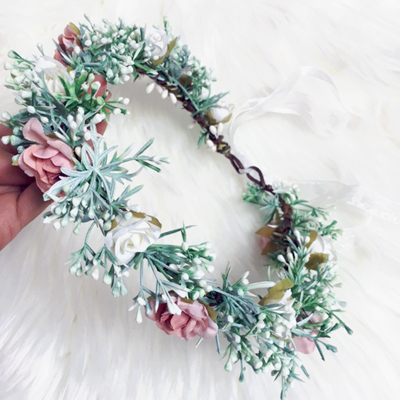 winter floral crown