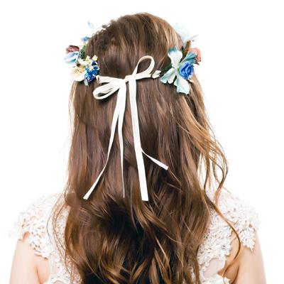 silk blue beige crown