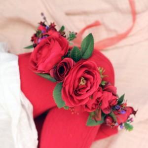 flower crown red