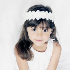 christening girls white sash