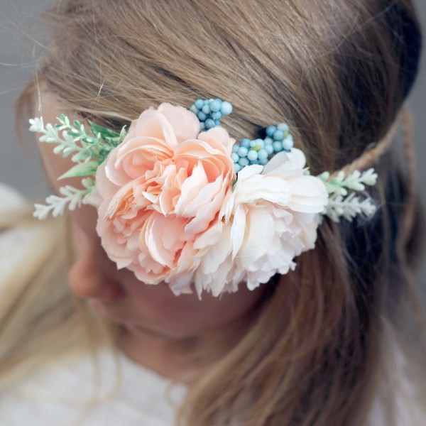 event peach floral headband