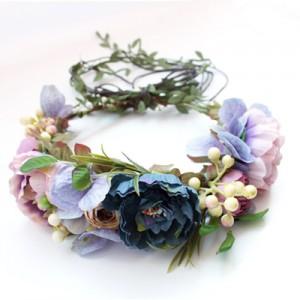 bohemian leafy floral vine crown