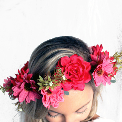 Melbourne fake flower crowns party fashion