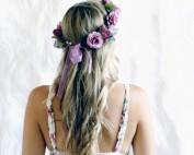 purple boho crowns hair Australia