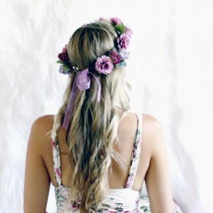 purple boho crowns hair Australia