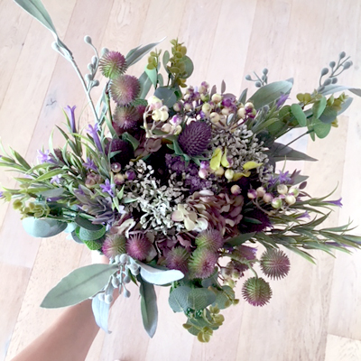 silk bouquet artificial flowers wedding