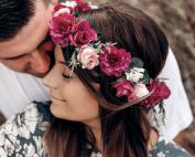 photoshoot flower fake crowns