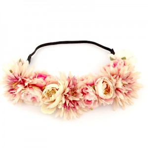 head tie peach flowers