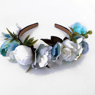 silk faux flower headband party