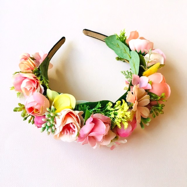 floral races headband custom made