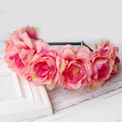 silk soft rose artificial head band Melbourne