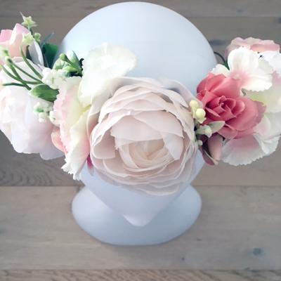 outdoor events head piece silk flowers