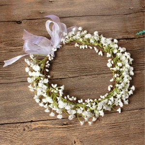 fake faux gypso flower crown