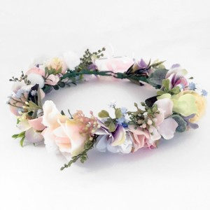 pastel flower fake wedding hair flowers