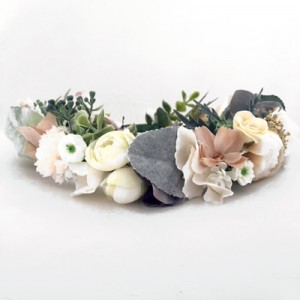 nude womens floral crown head