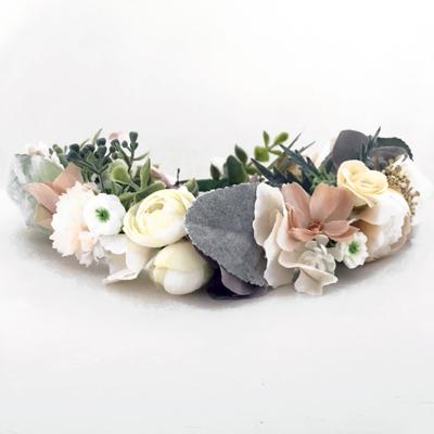 nude womens floral crown head