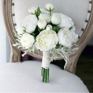 white peony flower bouquet