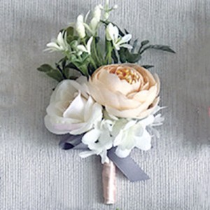 artificial flower groomsmen button holes