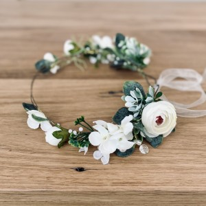 Lilly and lace flower wreath hair