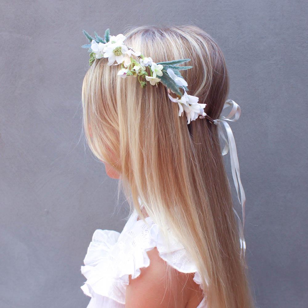 daisy flower hair wreath halo