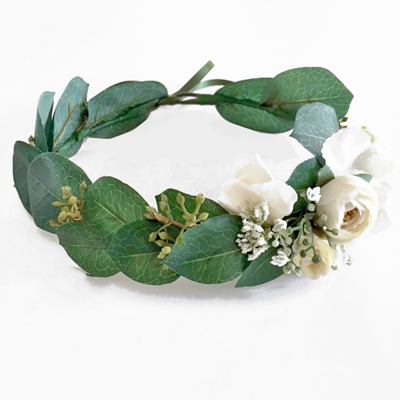 bridesmaid bushy boho flower silk crown