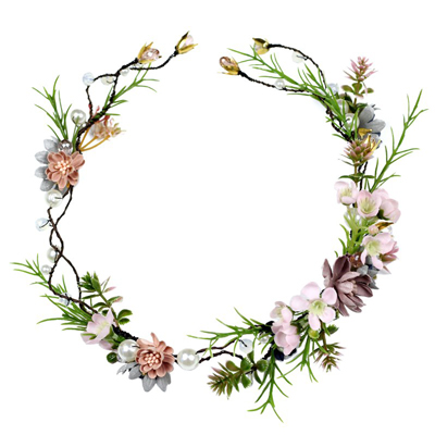 silk floral crown kids adults