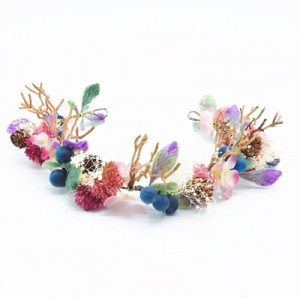 moose ears flower silk crown