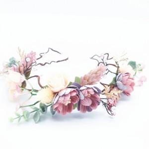 mauve vintage kids floral crown Australia