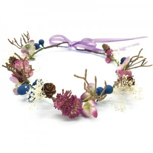 antler fake flower crown