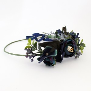 navy flower fake hair flowers