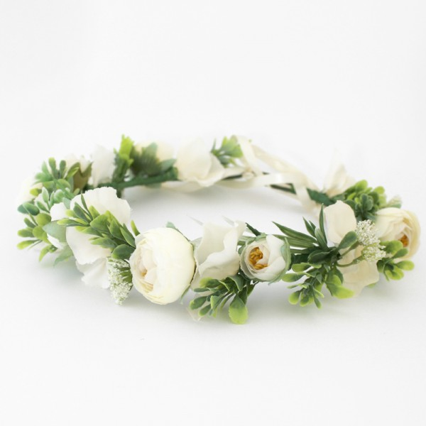 wedding day flower headbands