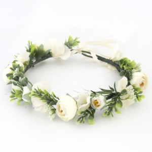 brides flower wreath