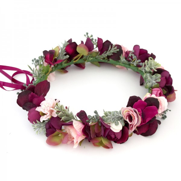 lux designer flower crown