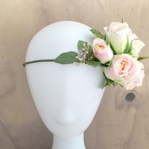 pink flower headbands