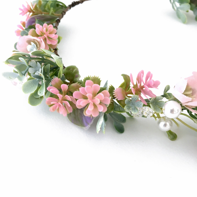 pearl flower Tiara kids