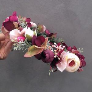 red bridal crown