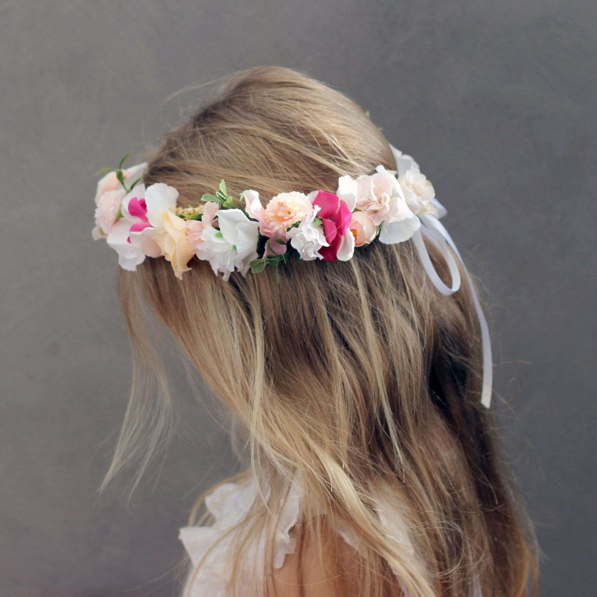 girls crown flowers fake