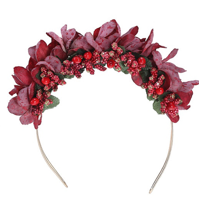 fashion red flower head bands