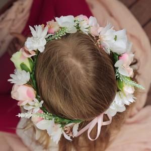 garden wedding floral crown flowergirl