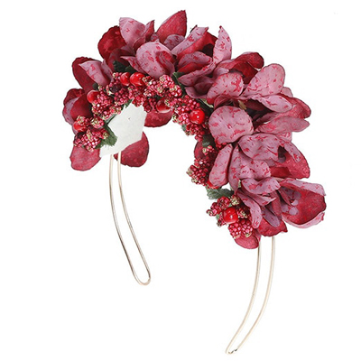 red Christmas party fashion hair piece