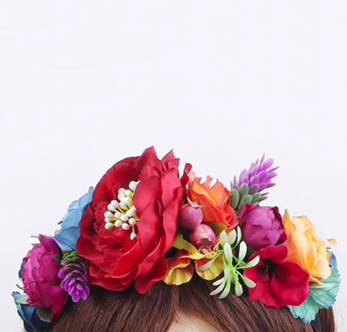 races party tropical Mexican flower crown