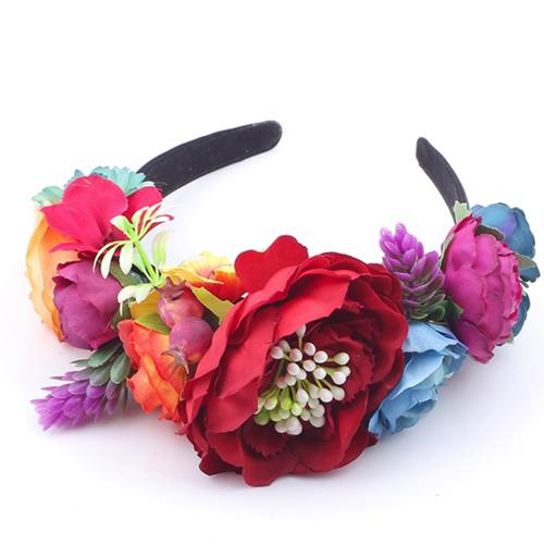 colourful bright headband womens